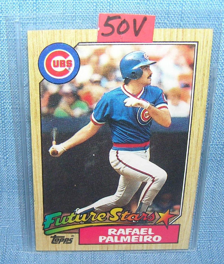 Raphael Palmeiro rookie baseball card