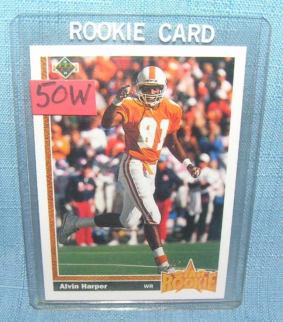 Alvin Harper rookie football card