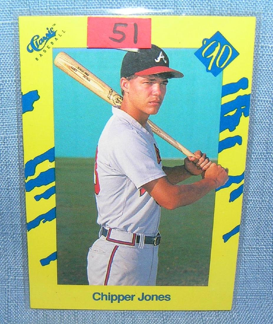 Chipper Jones rookie baseball card