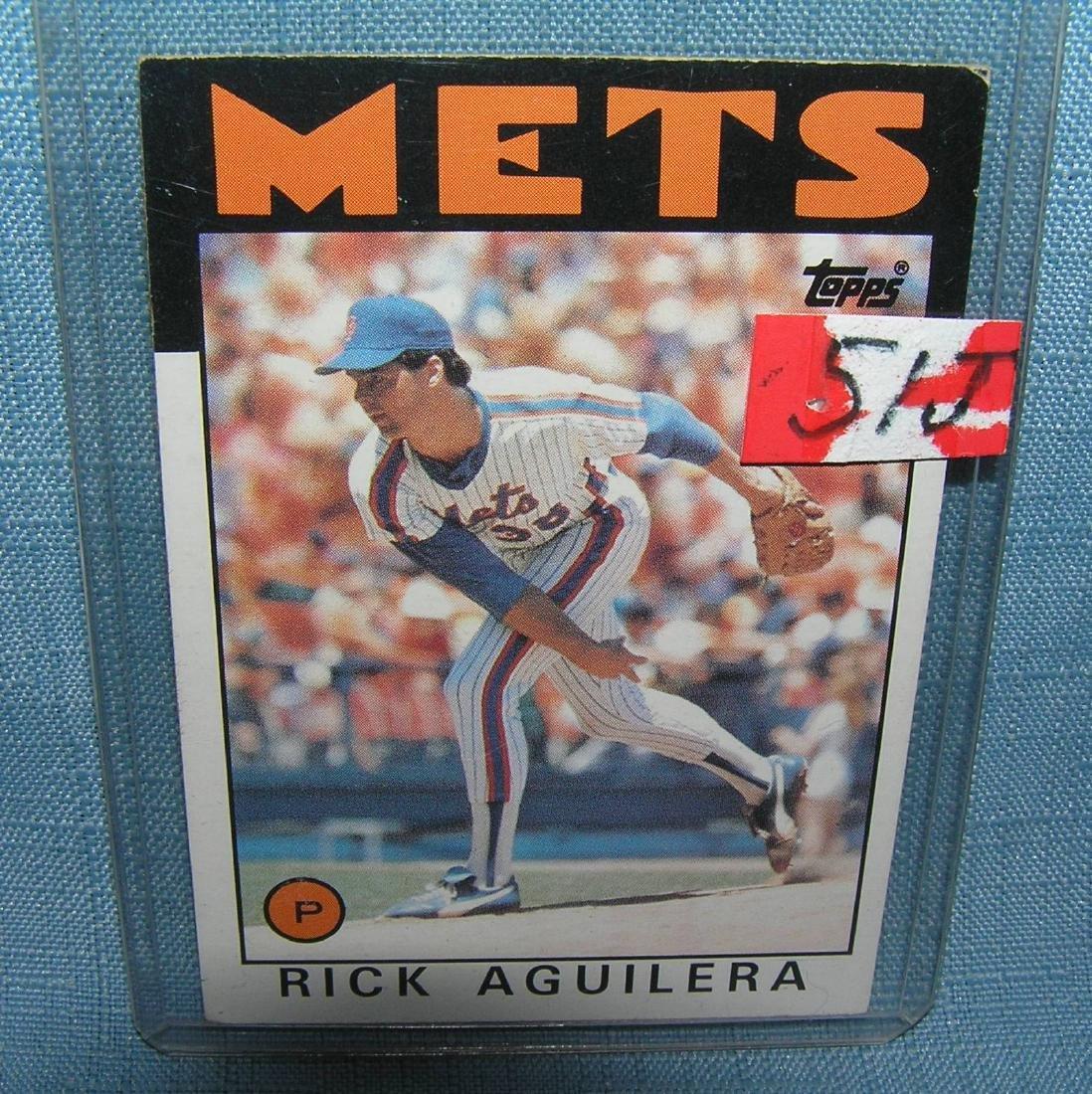 Rick Aguilera rookie baseball card