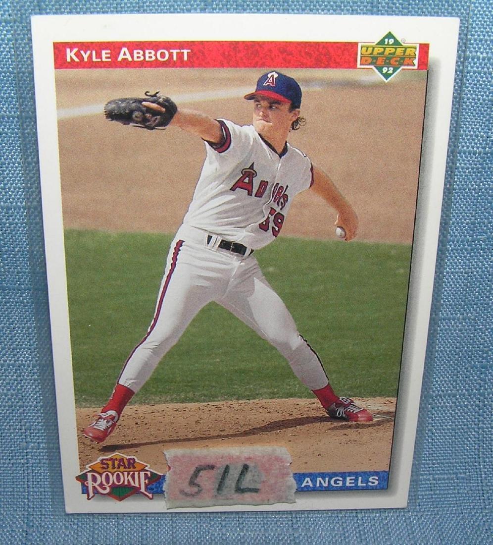 Kyle Abbott rookie baseball card