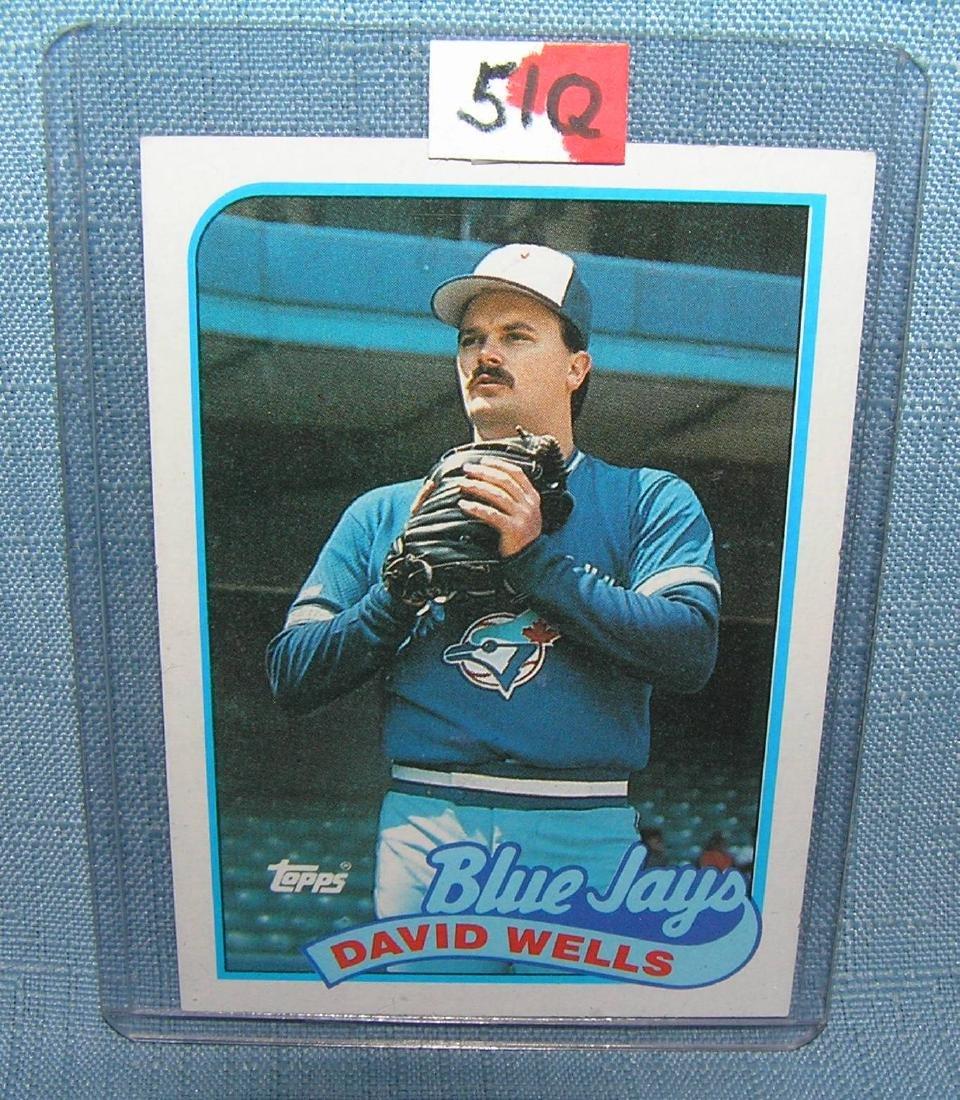 David Wells rookie baseball card