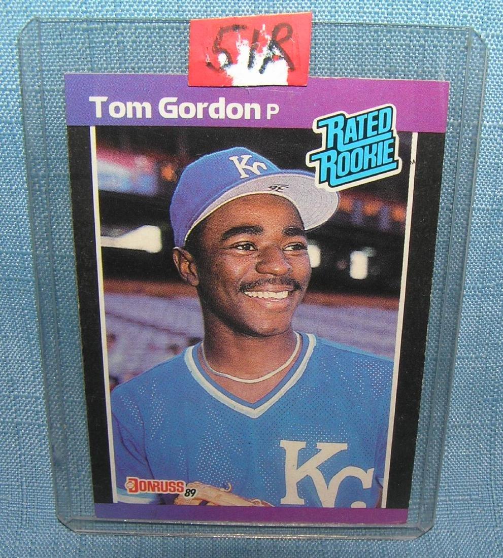 Tom Gordon rookie baseball card