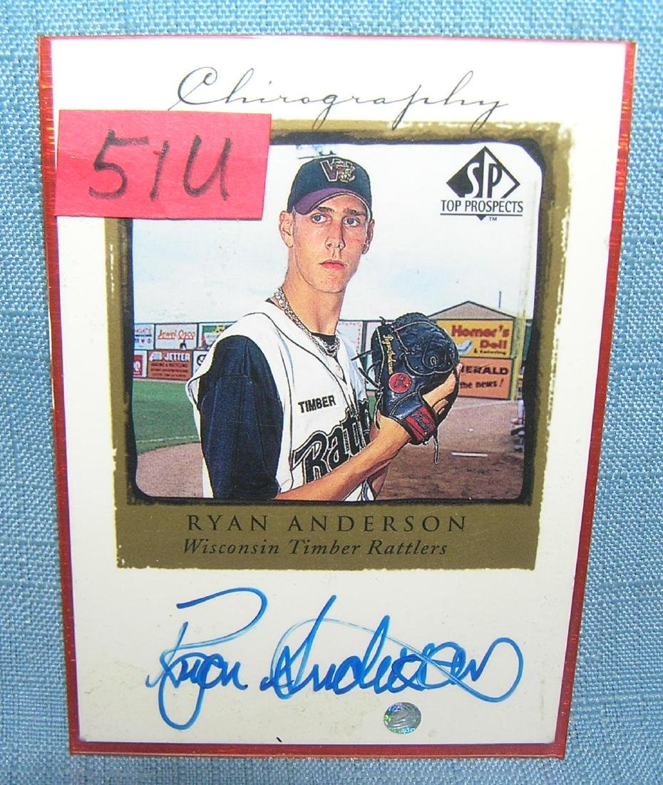 Ryan Anderson autographed rookie baseball card