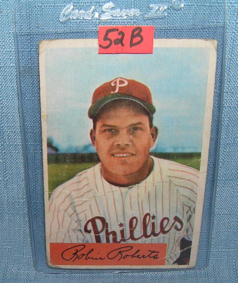 Vintage Robin Roberts Bowman baseball card
