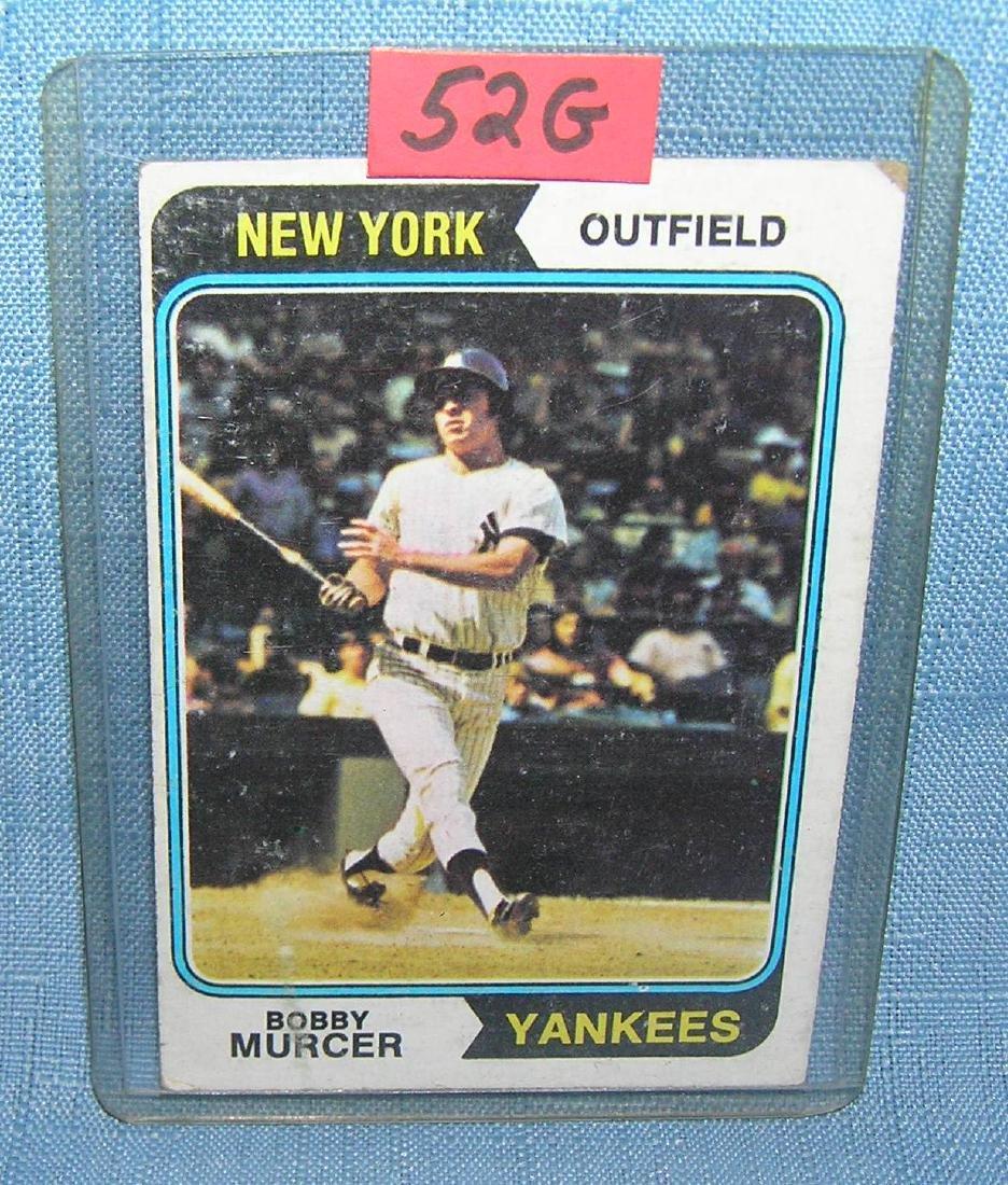 Vintage Bobby Mercer baseball card