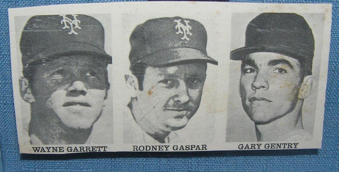 Group of 3 vintage NY Mets baseball mini cards