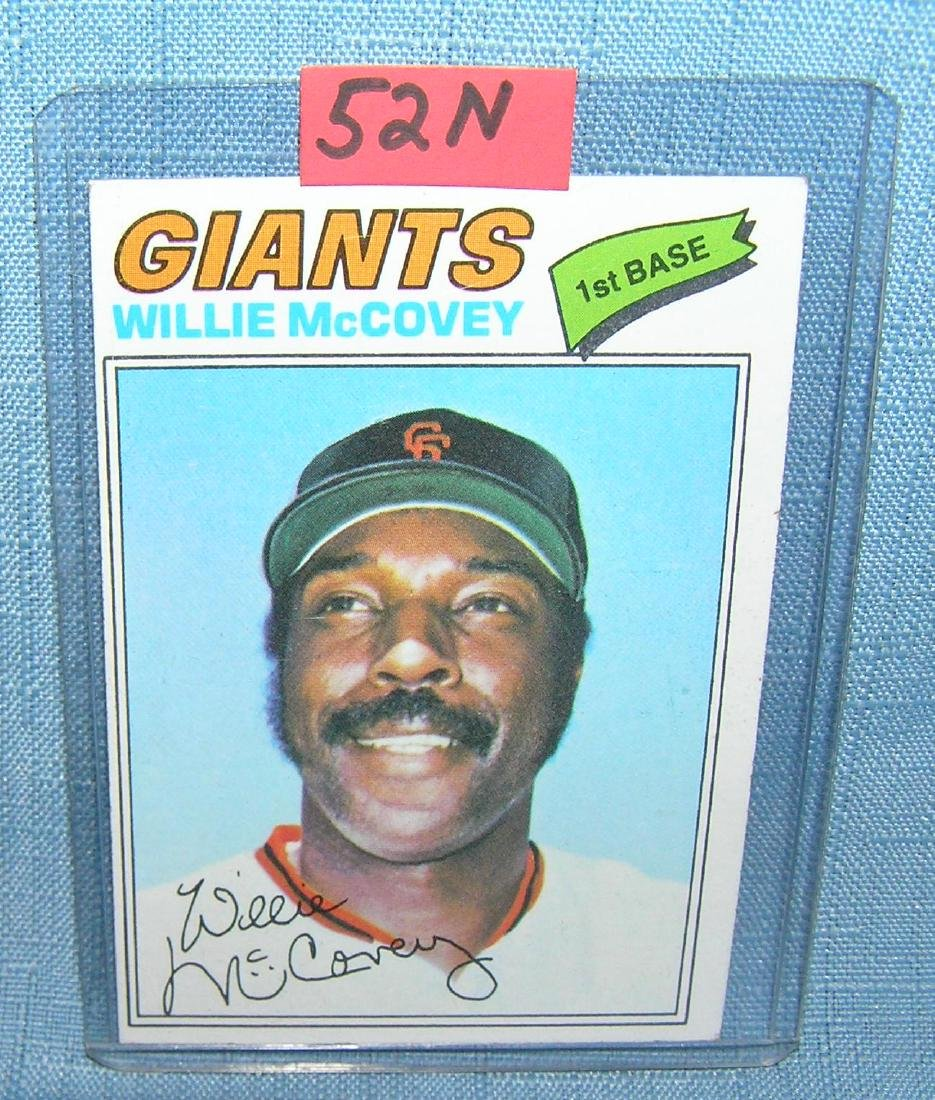 Vintage Willie McCovey all star baseball card
