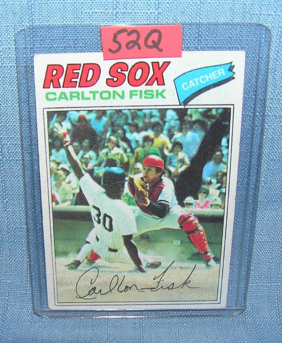Vintage Carlton Fisk all star baseball card