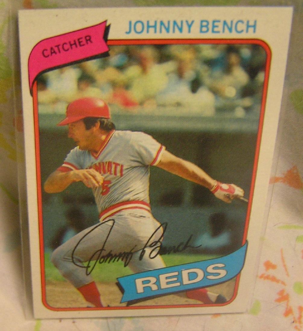 Vintage Johnny Bench all star baseball card