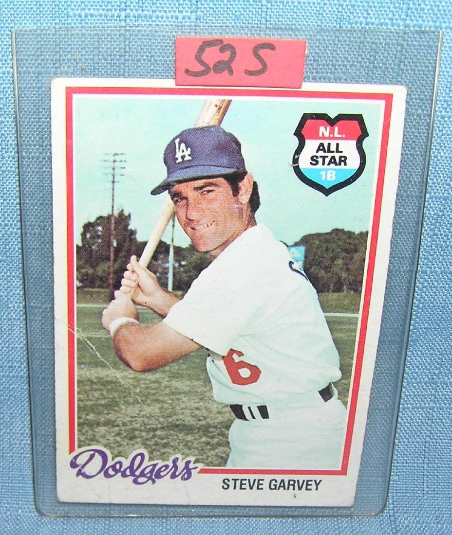 Vintage Steve Garvey all star baseball card