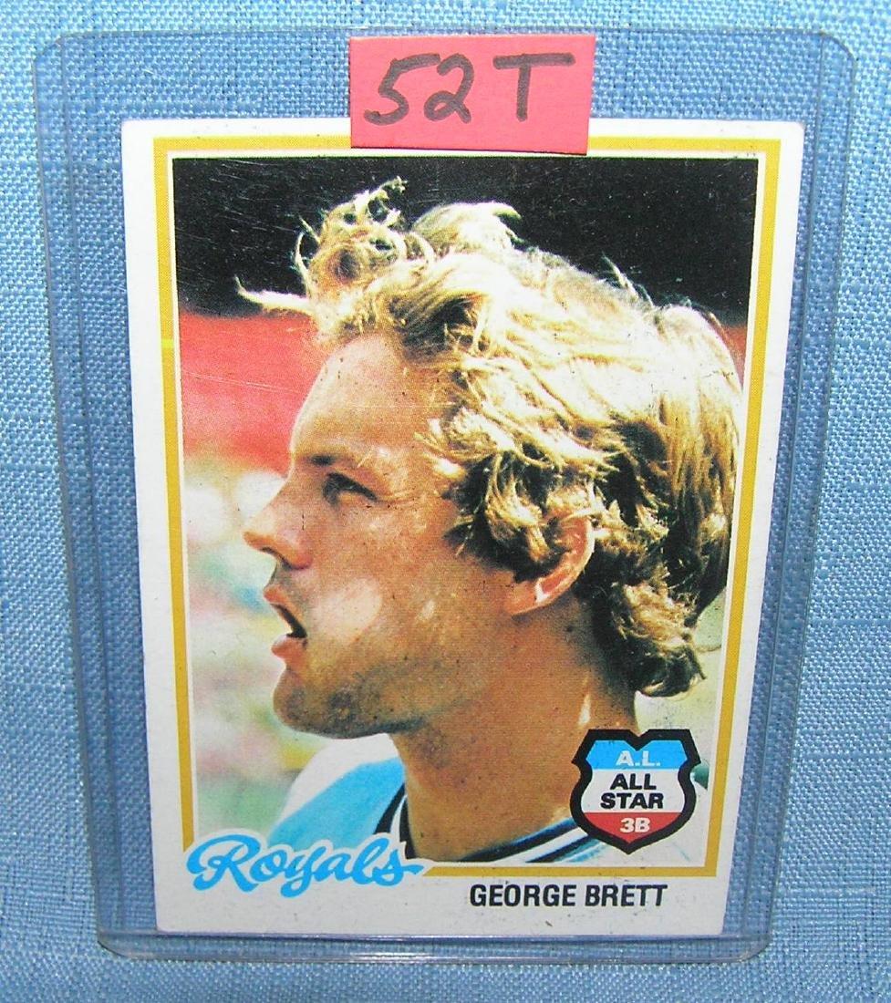 Vintage George Brett all star baseball card