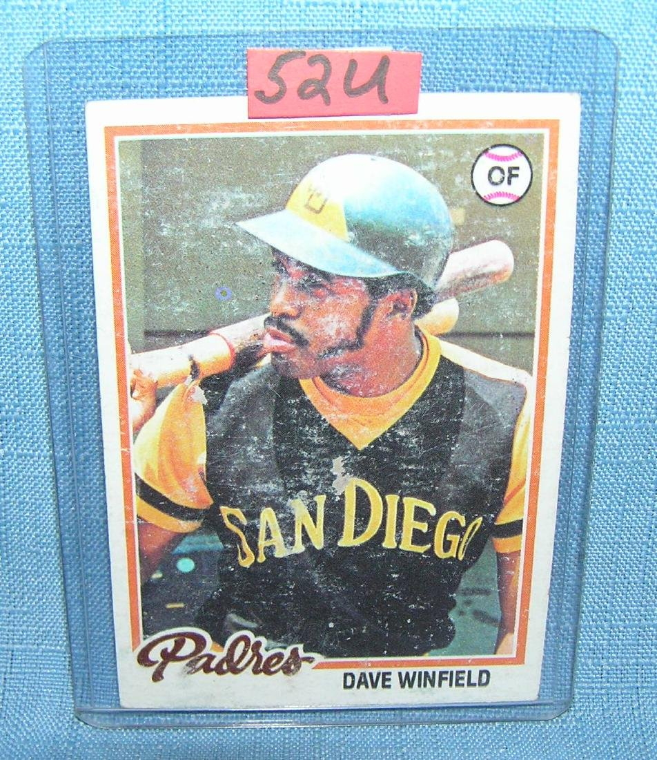 Vintage Dave Winfield all star baseball card