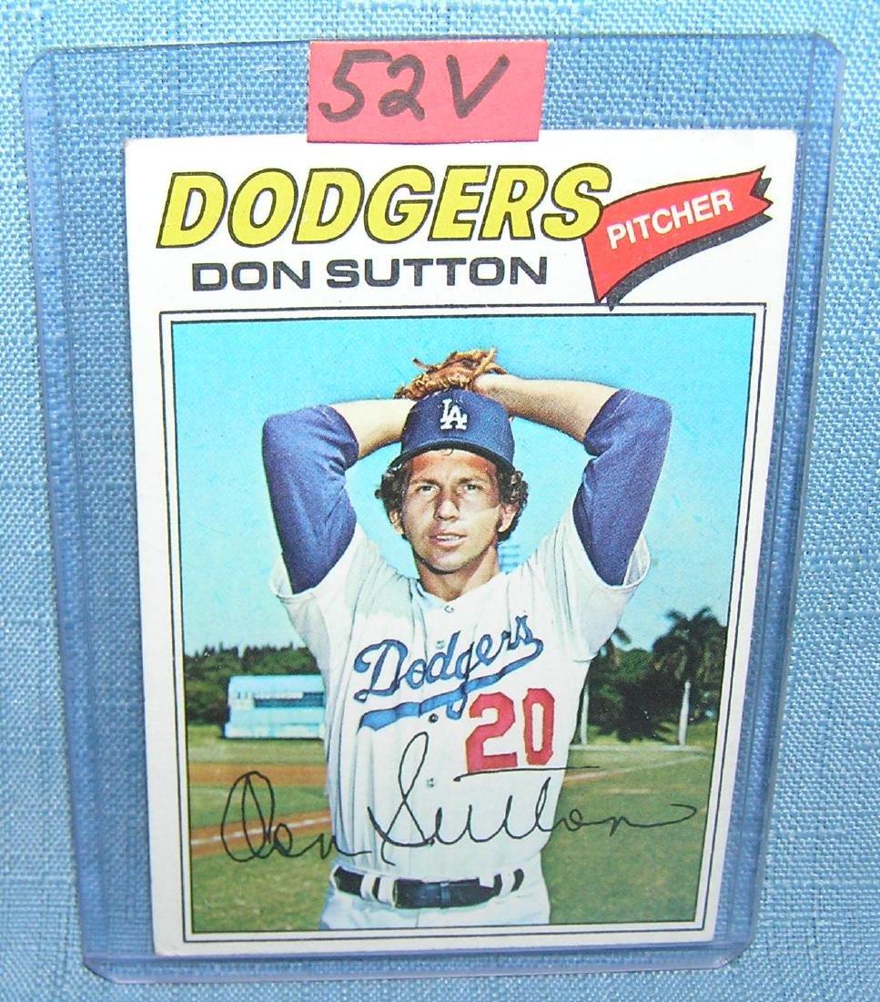 Vintage Don Sutton all star baseball card