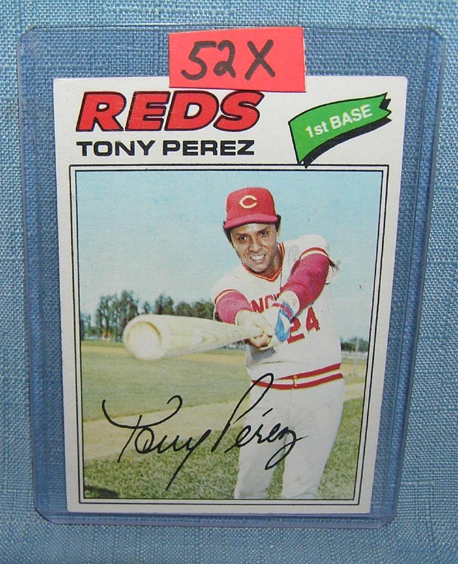 Vintage Tony Perez all star baseball card