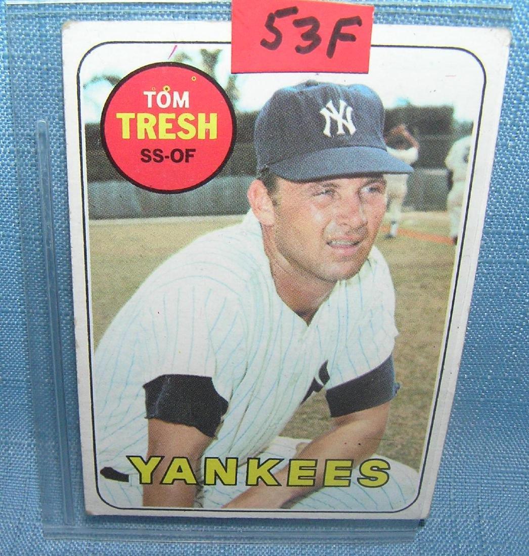 1969 Topps Tom Tresh baseball card