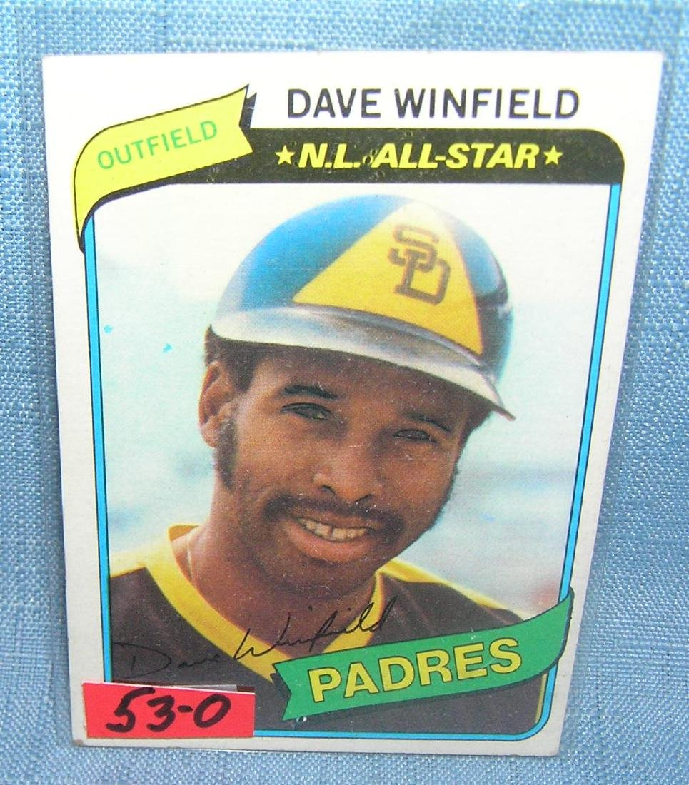 Vintage Dave Winfield Topps baseball card