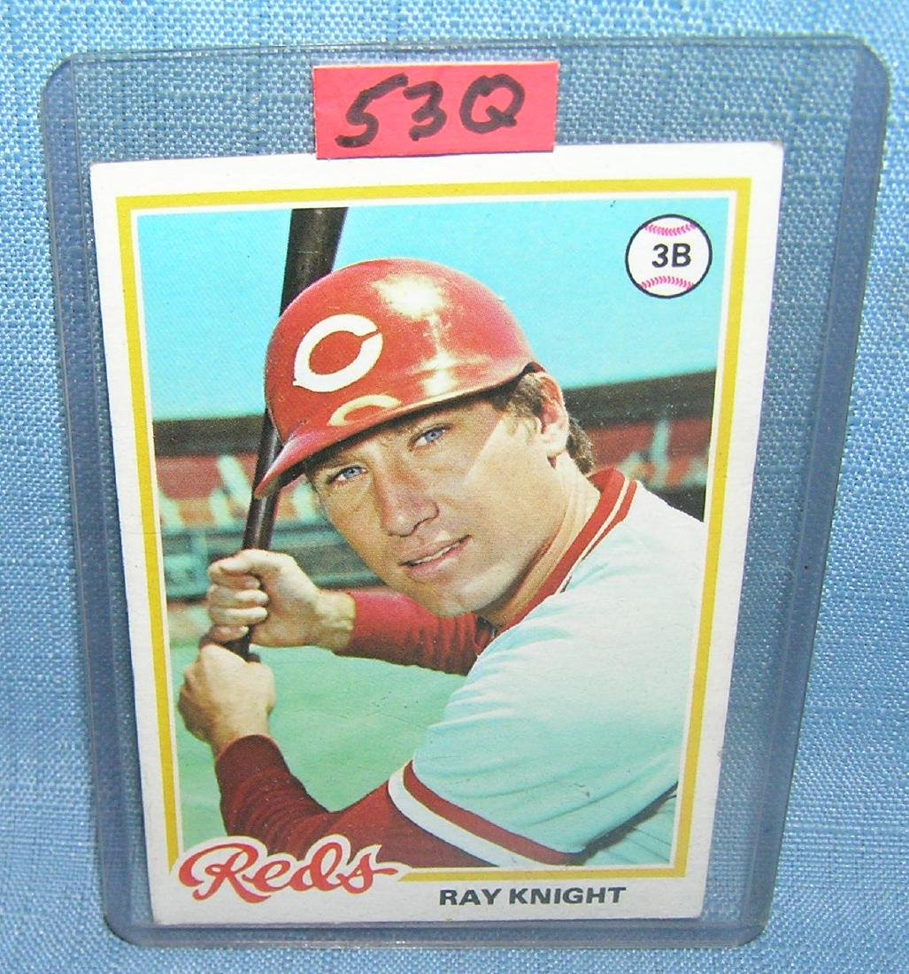 Vintage Ray Knight second year Topps baseball card