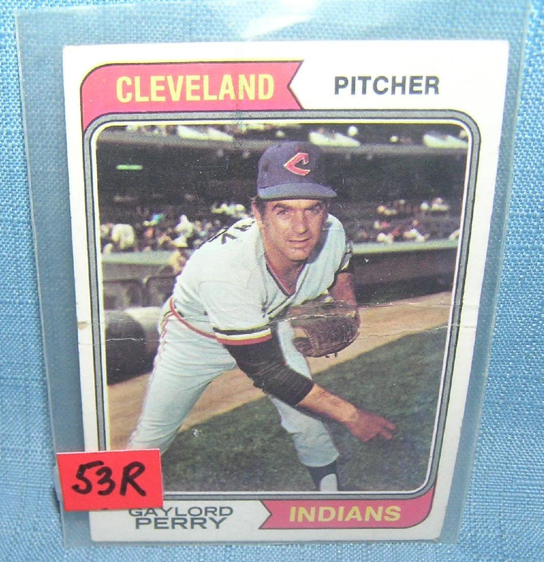 Vintage Gaylord Perry Topps baseball card