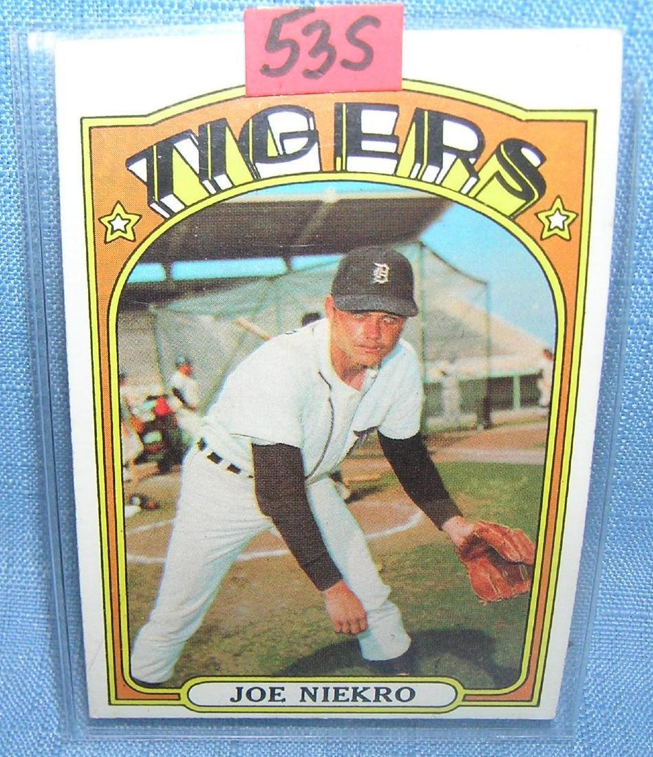 Vintage Joe Niekro Topps baseball card