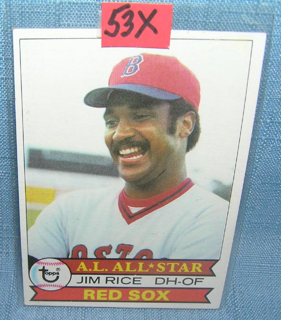 Vintage Jim Rice all star baseball card by Topps