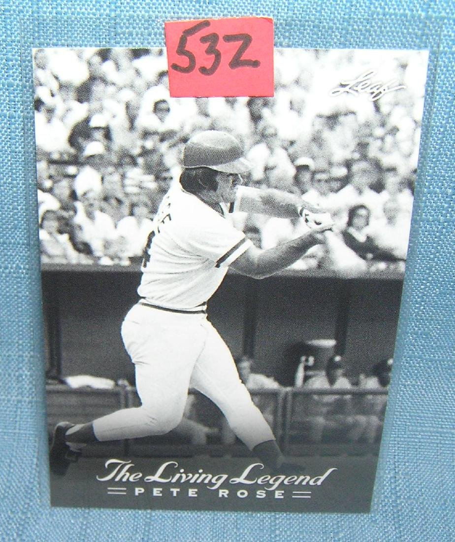 Pete Rose all star baseball card by Leaf trading cards