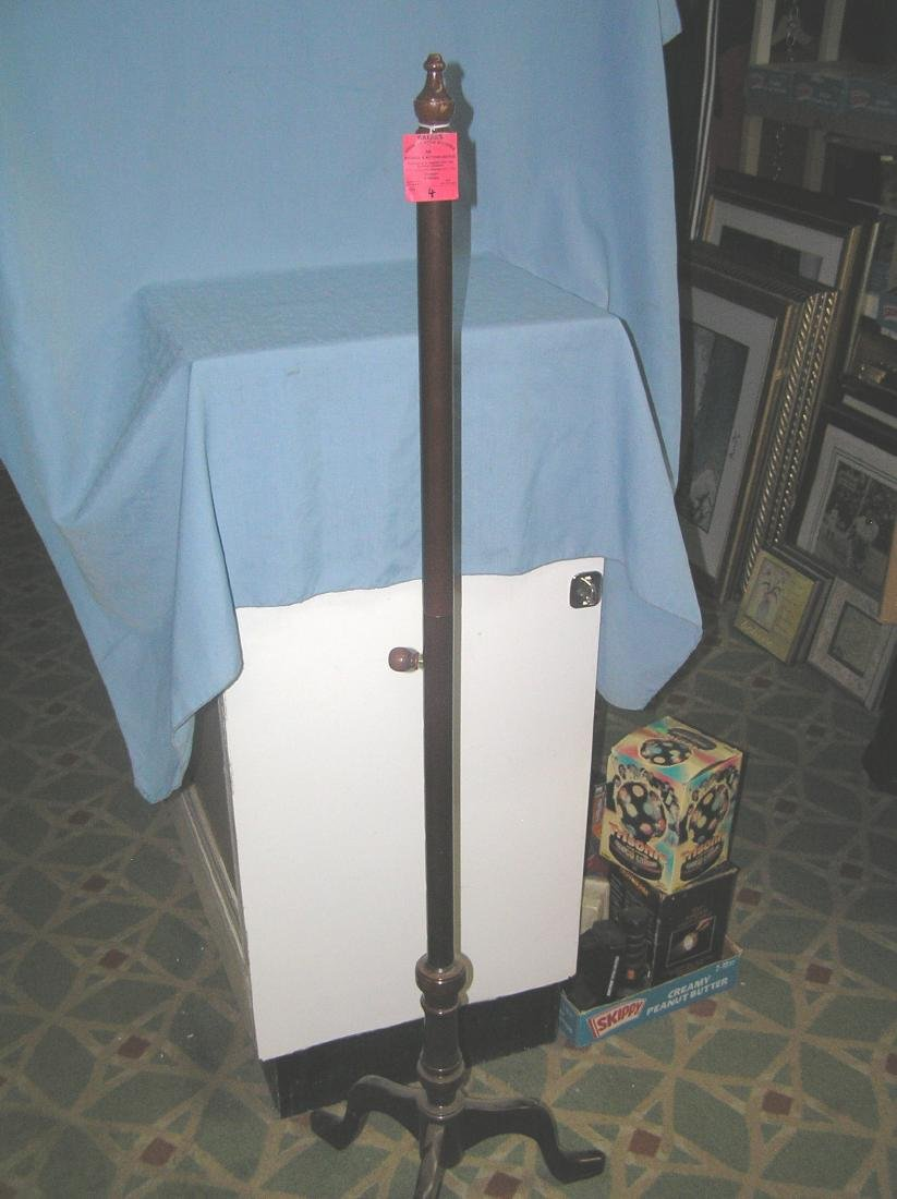 Mahogany coat and hat rack