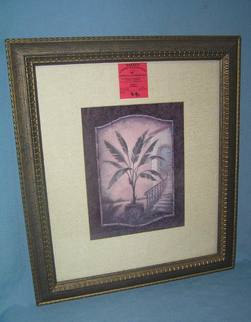 Matted and framed palm tree print