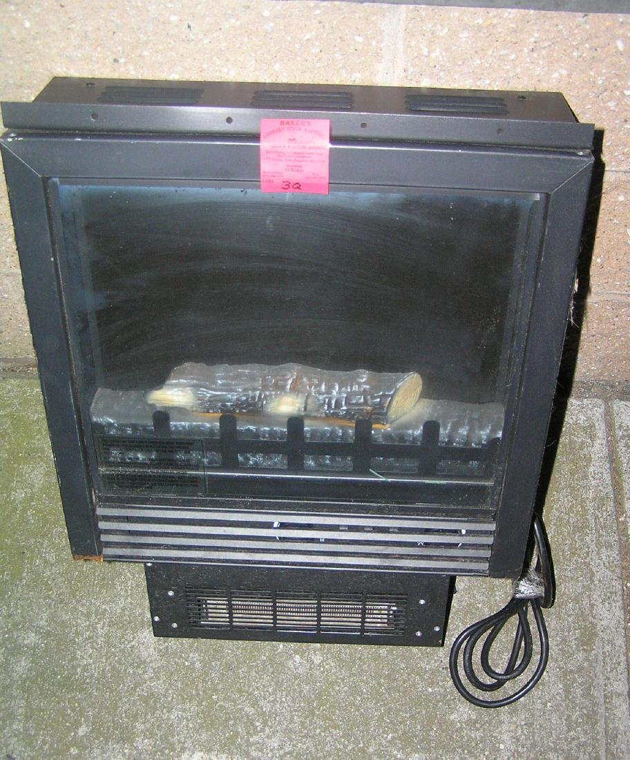 Electric light up illuminated scenic log space heater