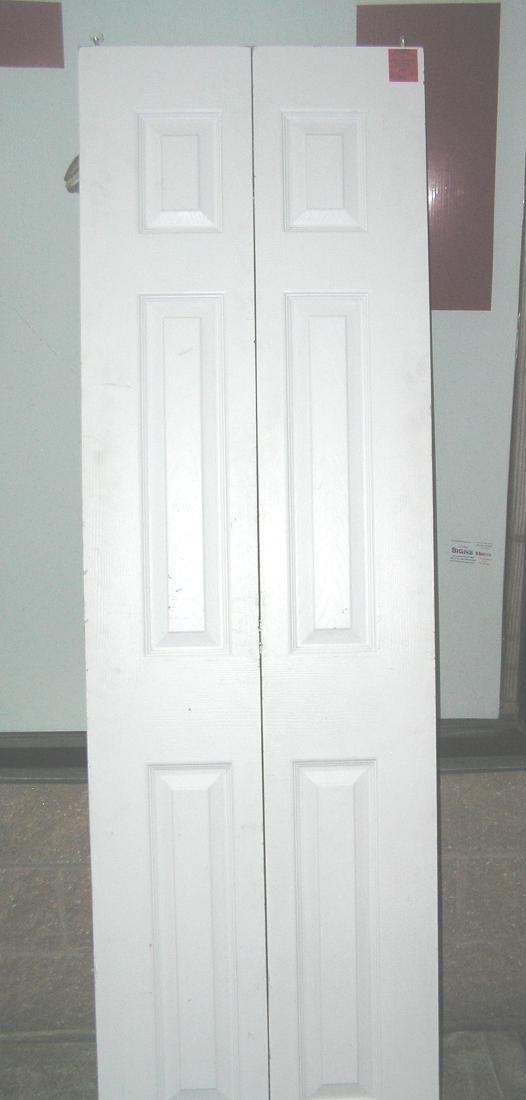 Double panel bifold door with raised panels