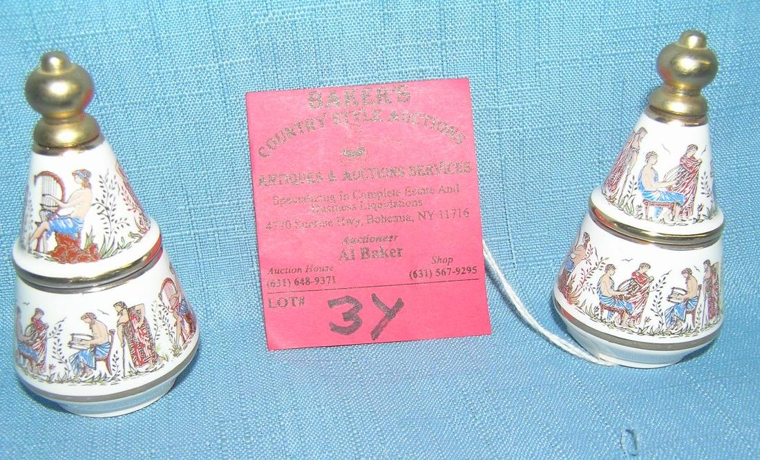 Porcelain Greek musicians decorative perfume dabber