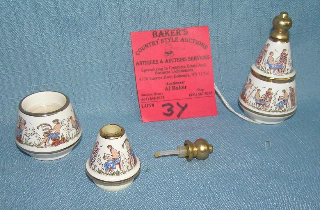 Porcelain Greek musicians decorative perfume dabber - 2