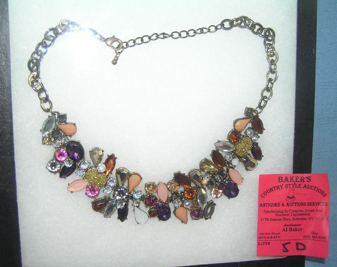 Quality costume jewelry semi precious stone necklace