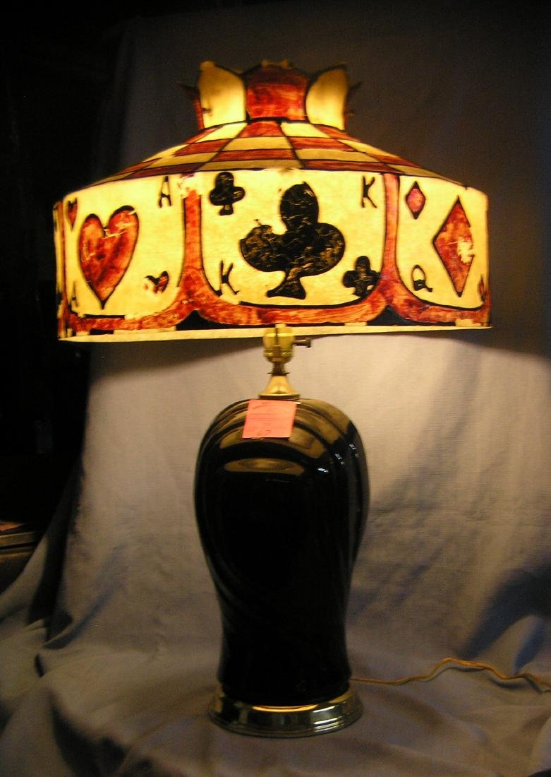 Stain glass style resin cast lamp/chandelier shade - 3