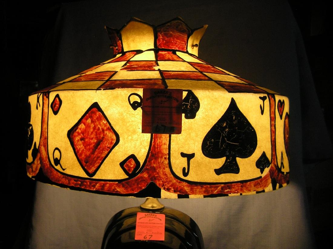 Stain glass style resin cast lamp/chandelier shade - 5