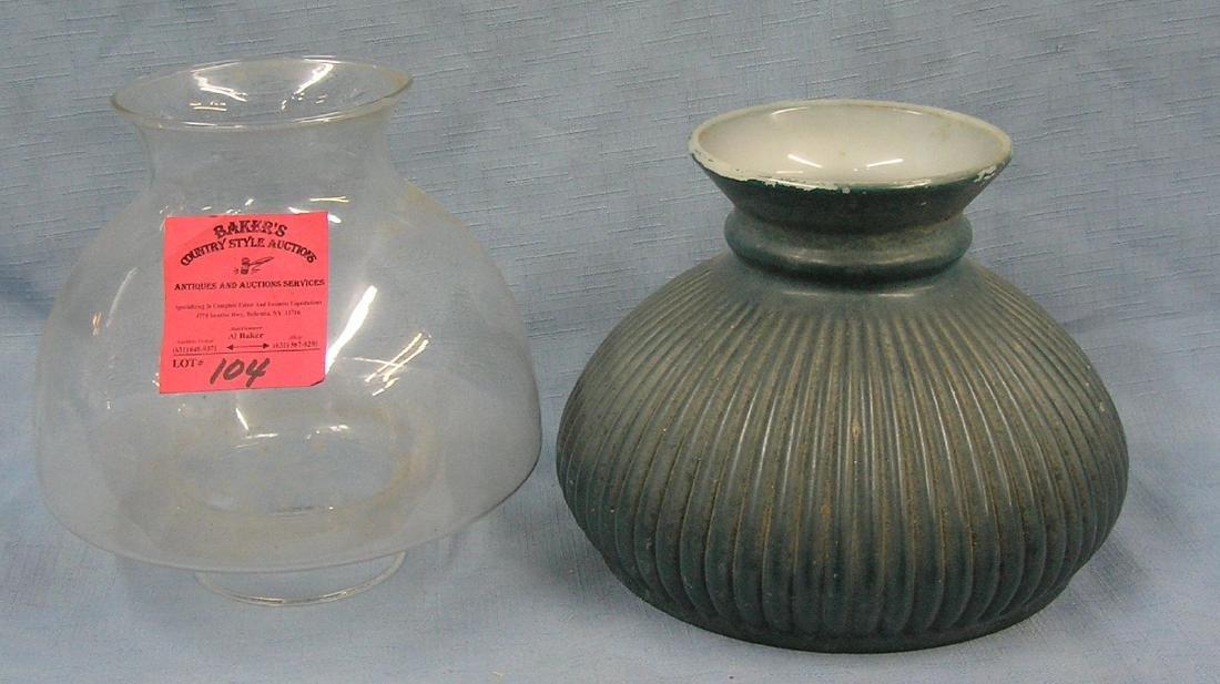Pair of vintage glass lamp globes