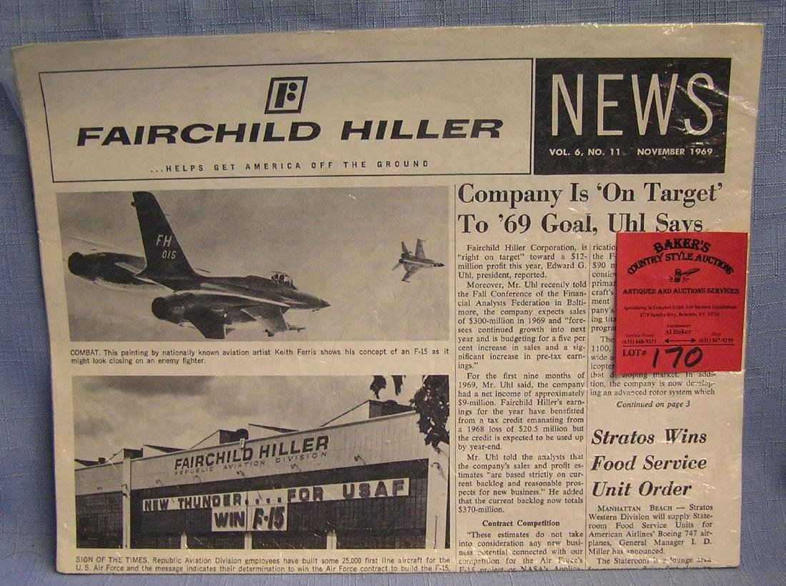Vintage Fairchild aviation newspaper
