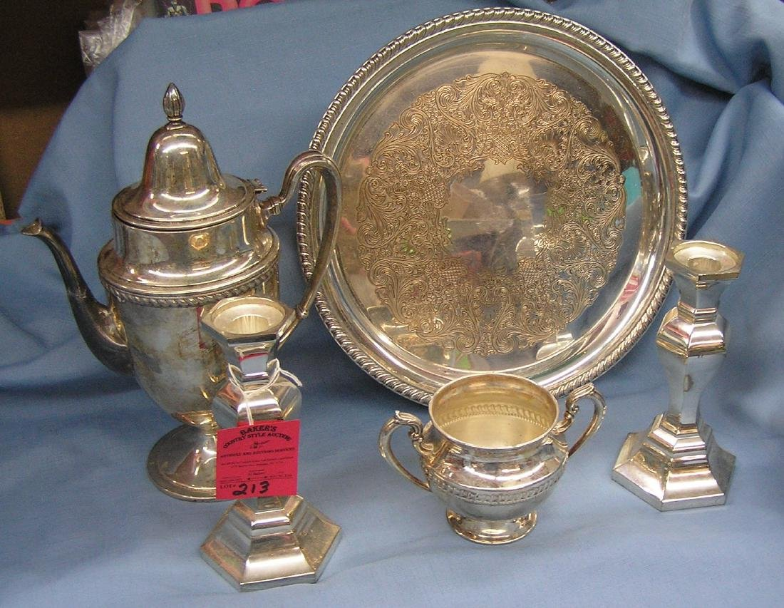 High quality silver plated serving pieces