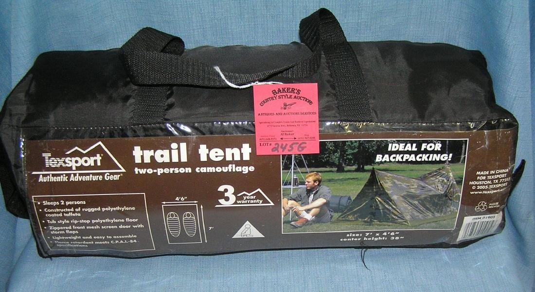 Two person camo trail tent