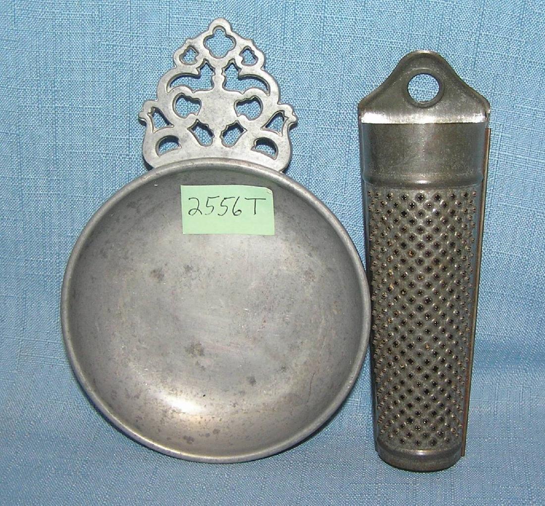 Pair of antique kitchen items