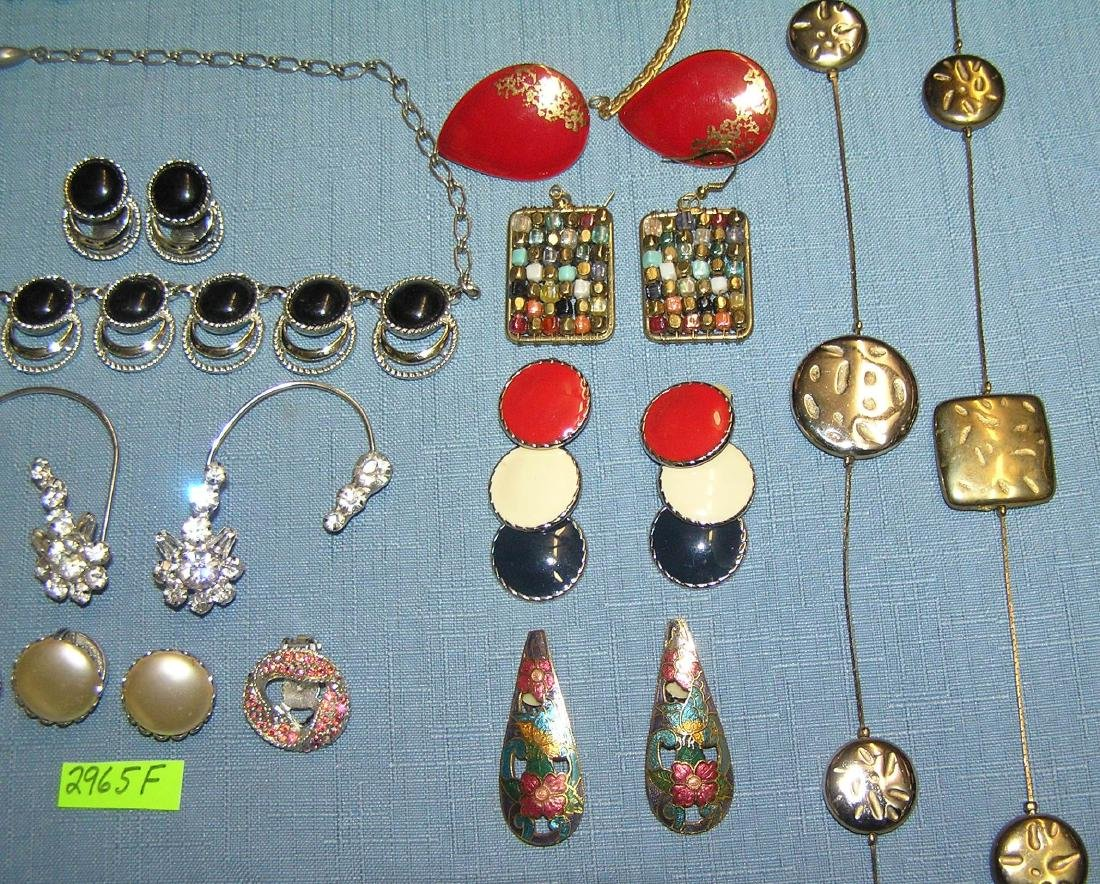 Large group of vintage costume jewelry - 3