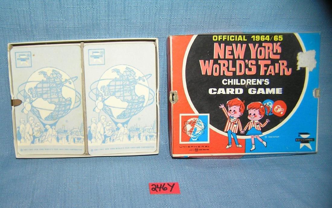 Vintage 1964 NY World's Fair card game in original box