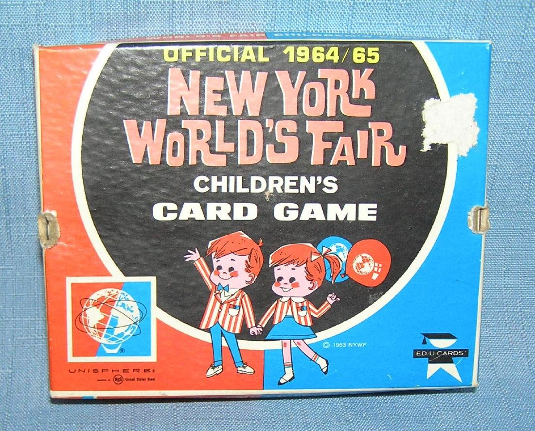 Vintage 1964 NY World's Fair card game in original box - 2