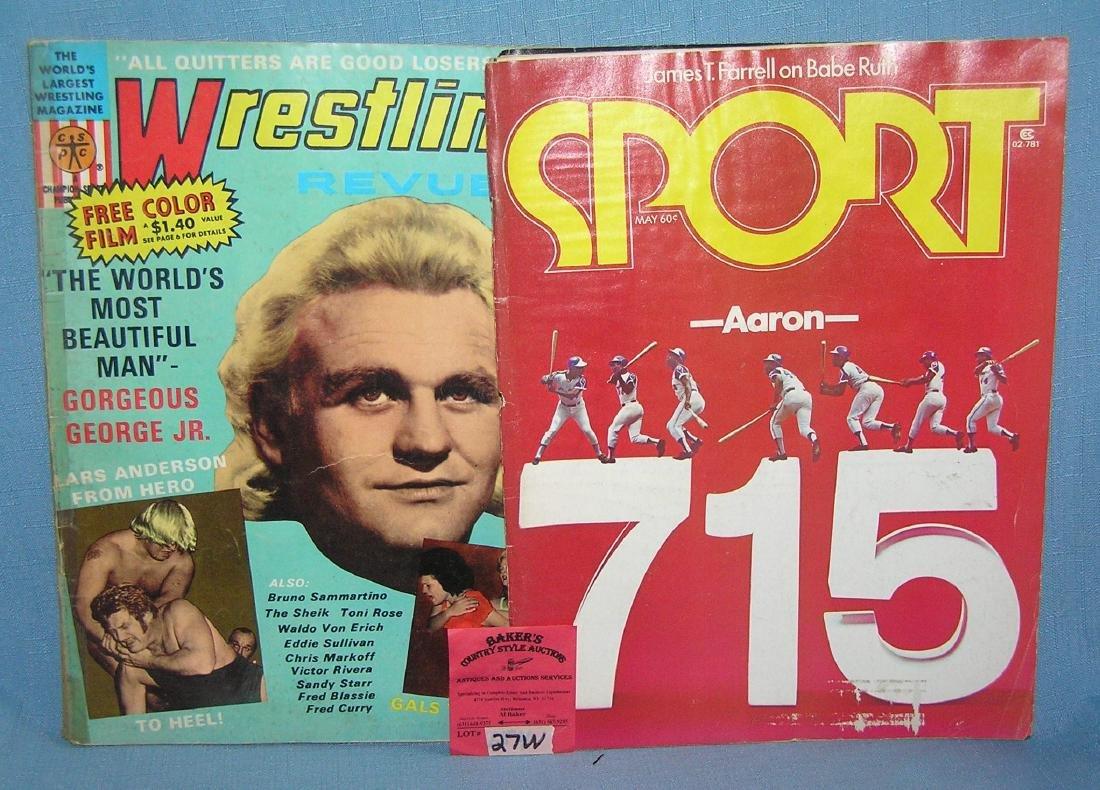 Pair of vintage sports magazines
