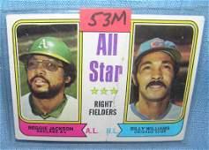 Vintage Reggie Jackson and Billy Williams Topps