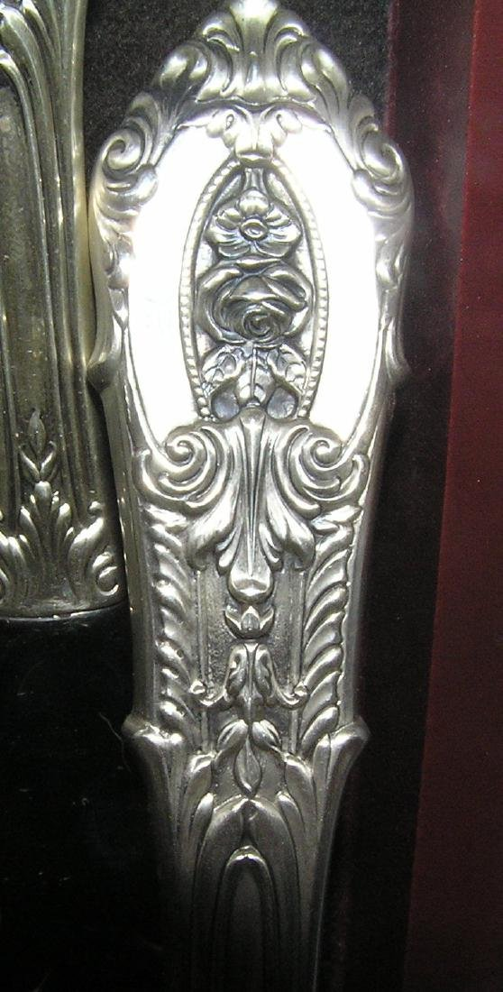 Wallace 76 piece sterling silver flatware set - 5