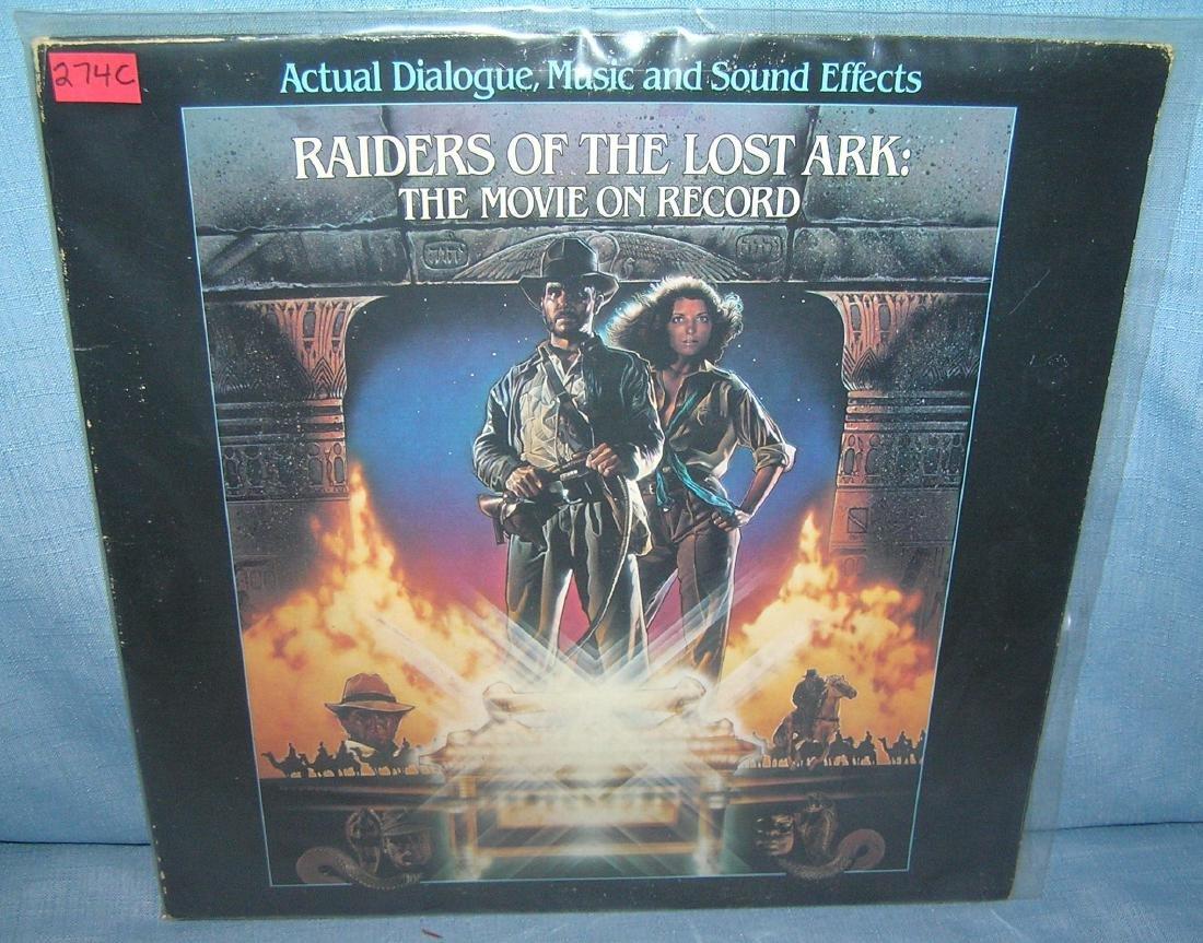 Indiana Jones action movie record album