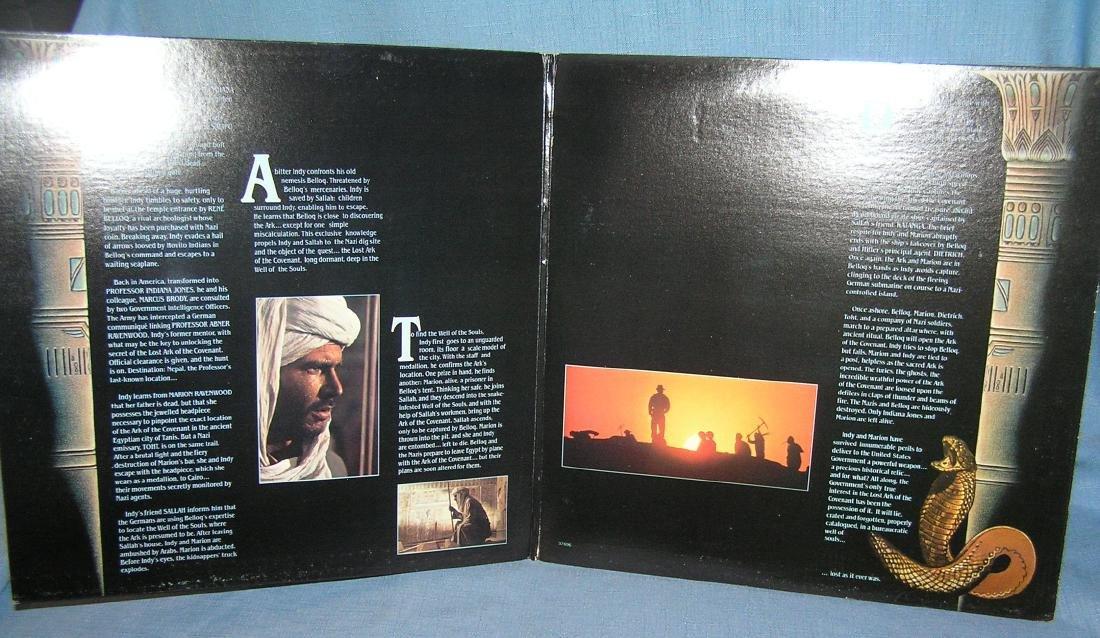 Indiana Jones action movie record album - 2