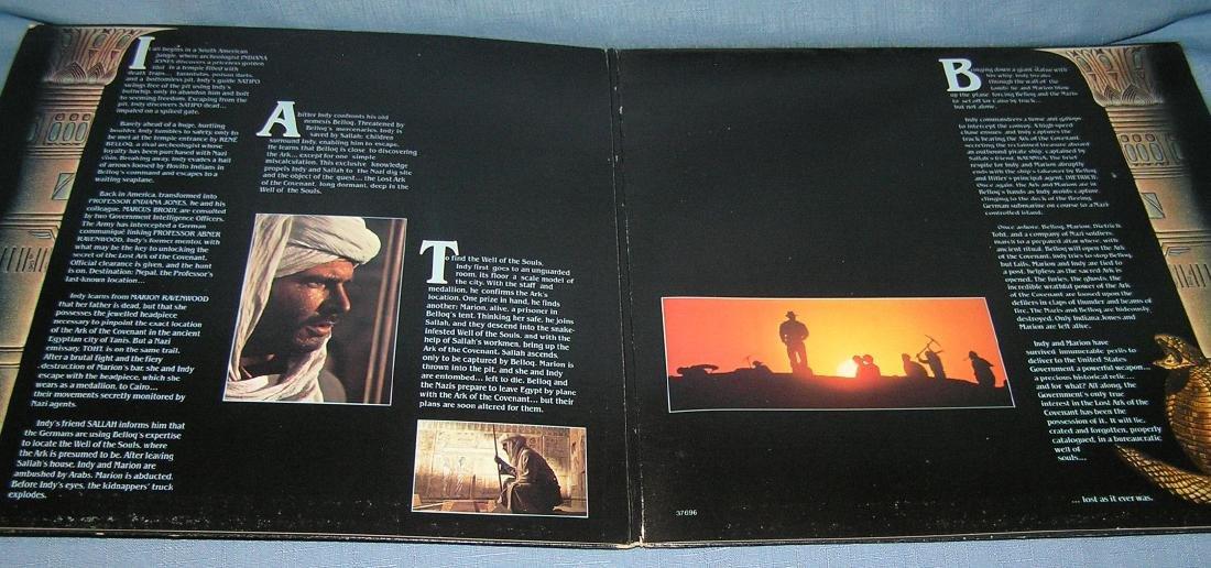 Indiana Jones action movie record album - 3