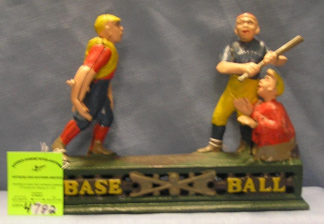 Cast iron Baseball Bank